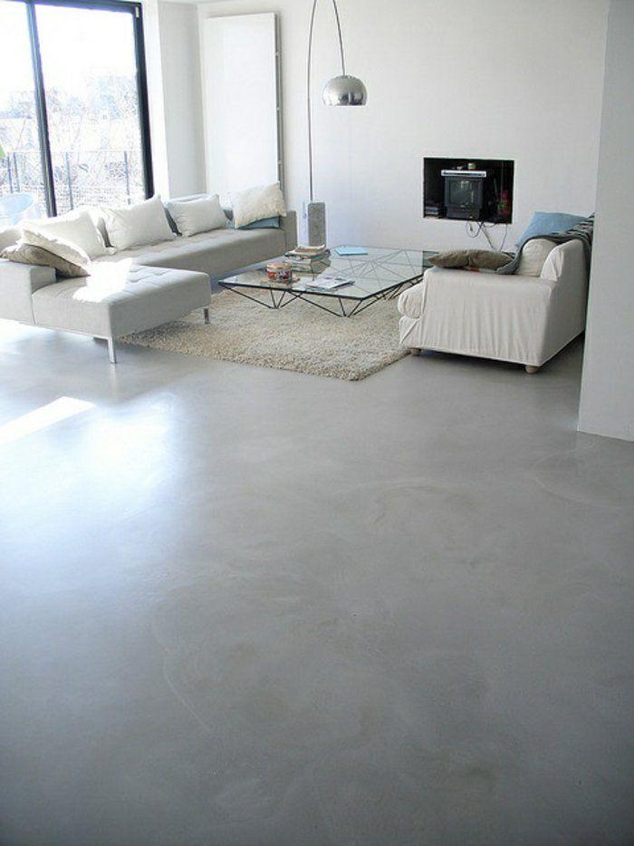 d couvrir le sol en b ton cir dans beaucoup de photos sol en b ton cir tapis blanc et. Black Bedroom Furniture Sets. Home Design Ideas