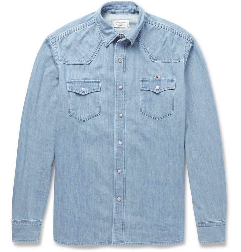 b44744358d1 Maison Kitsuné - Western Denim Shirt
