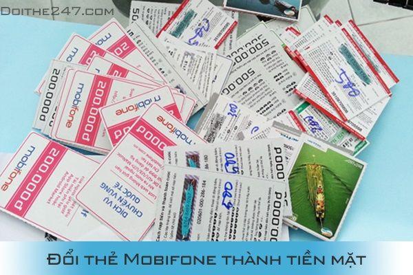 Đổi thẻ Mobi thành tiền chiết khấu 18%