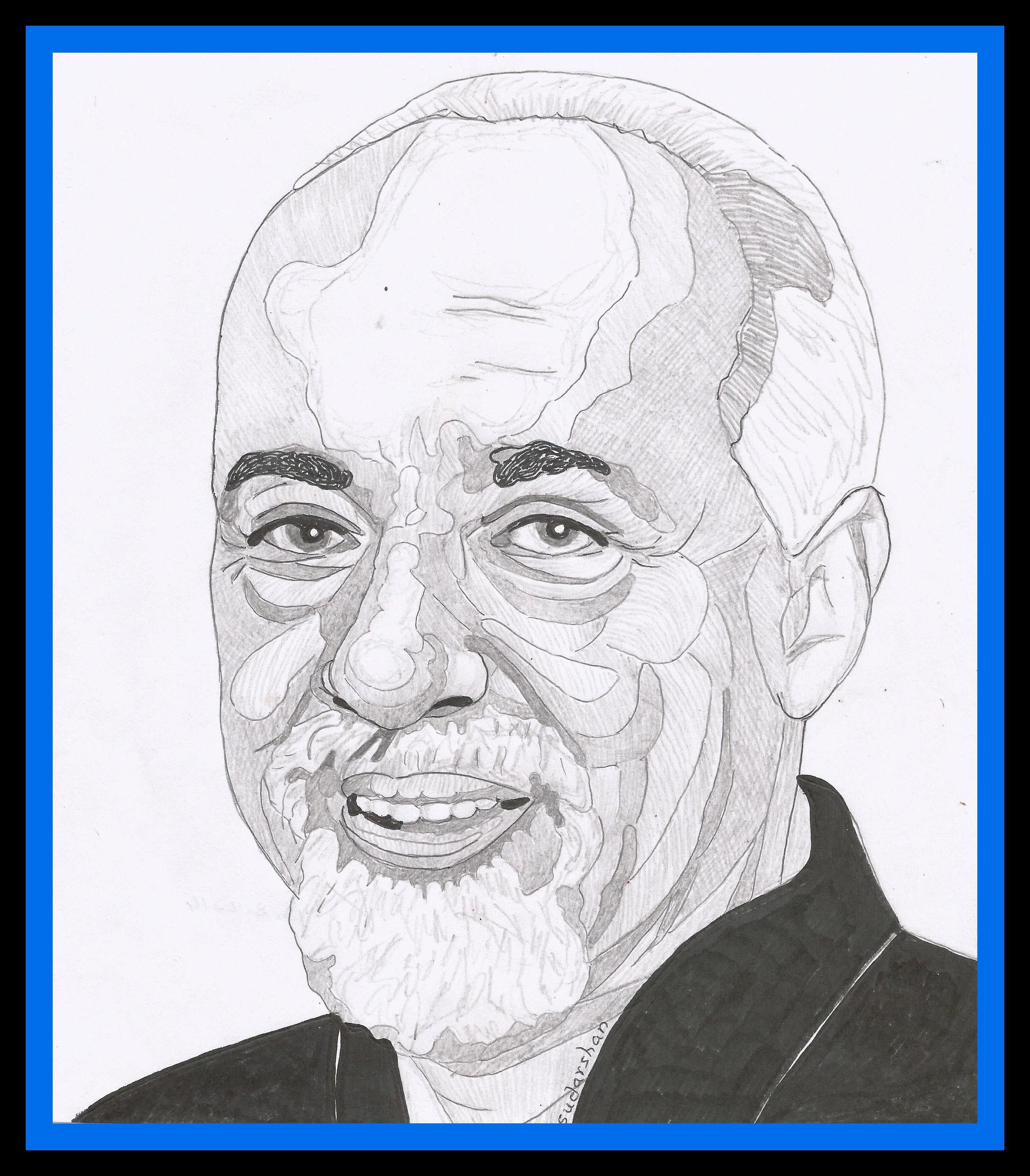 Paulo Coelho Person sketch, Sketches, Male sketch
