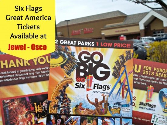 Sixflags Greatamerica Discount Tickets Available At Chicago Area Jewel Osco Grocery Stores Great America Six Flags America