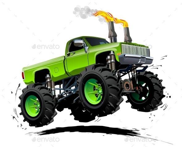 Cartoon Monster Truck Monster Trucks Monster Truck Art Monster Truck Drawing