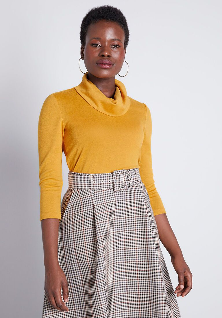 Sample Simplicity Knit Top in 1X - Fitted Mid by ModCloth