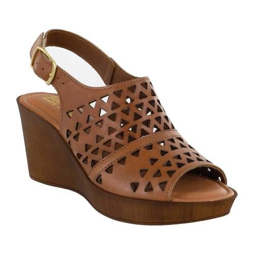 Photo of Women's Bella Vita Deb-Italy Laser Cut Out Wedge Slingback Sandal