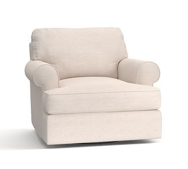 Turner Roll Arm Upholstered Swivel Armchair