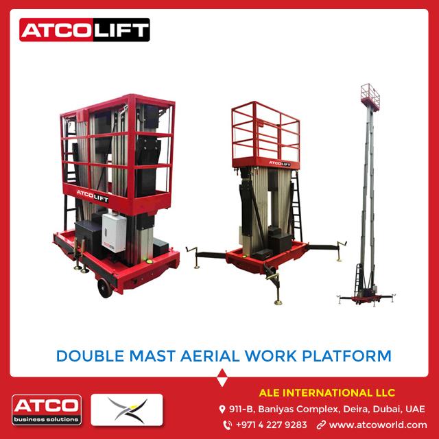 Double Mast Aerial Work Platform Suppliers Dubai UAE