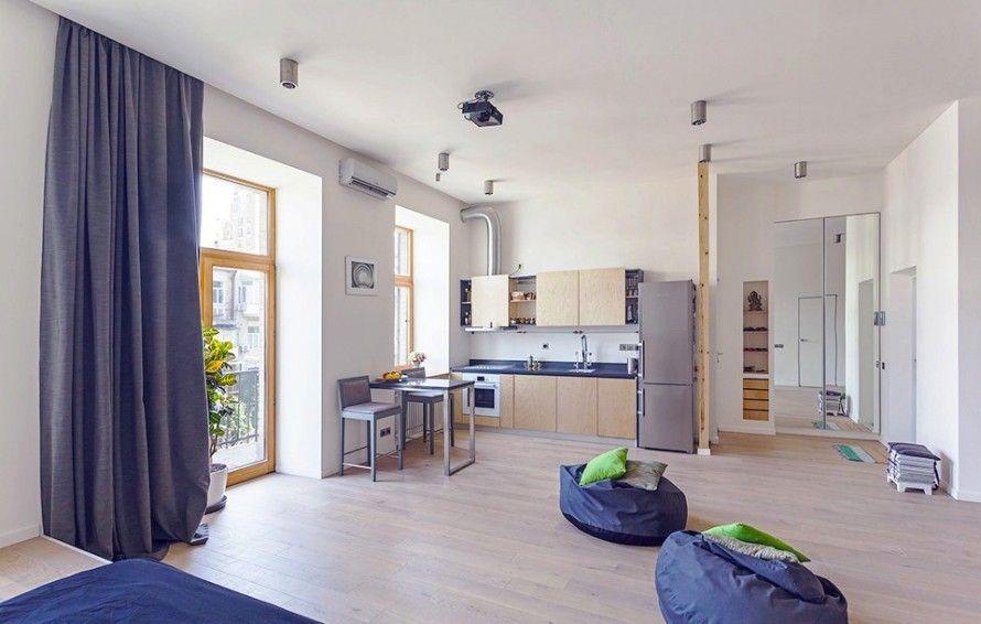 Reizend Moderne Kleine Wohnung Dekor für Junge Paare Grau Schwere