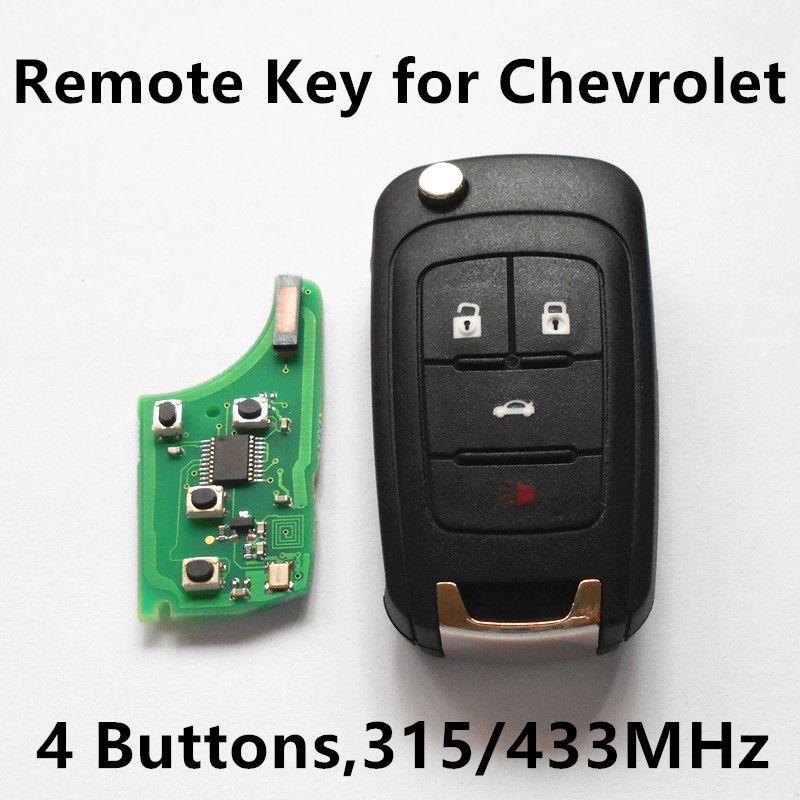 Remote Key 315mhz 433mhz With Id46 Chip For Chevrolet Cruze Malibu