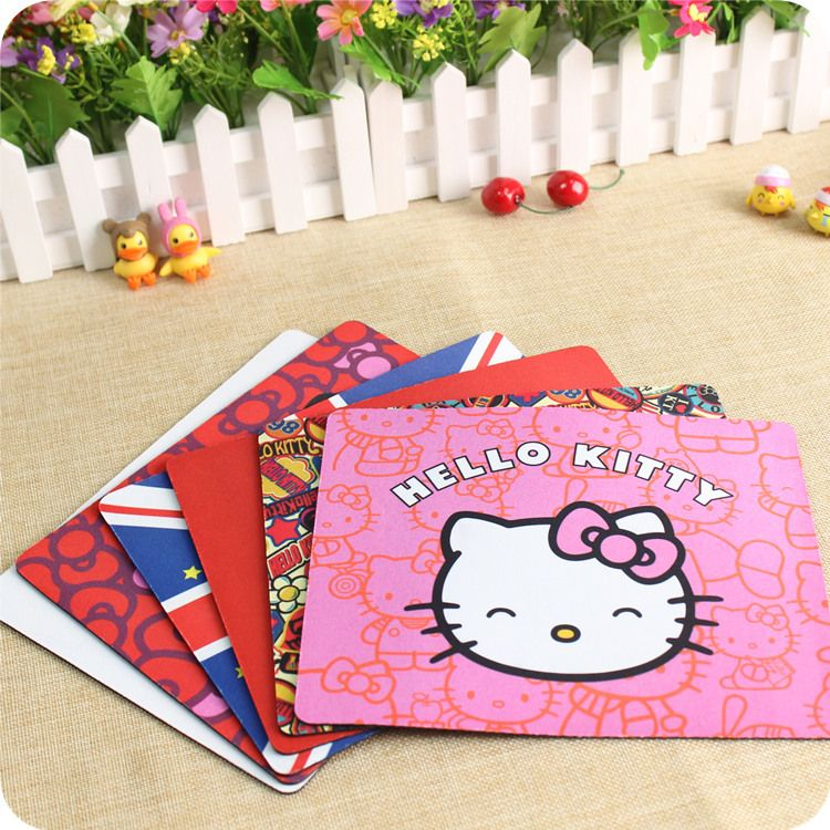d47e4d55d PASOCON Alfombrilla Raton Cute Hello Kitty Mouse Pad Keyboard Pad Laptop  Computer Mouse Pad Kawaii Kitty Mousepad tapete de rato