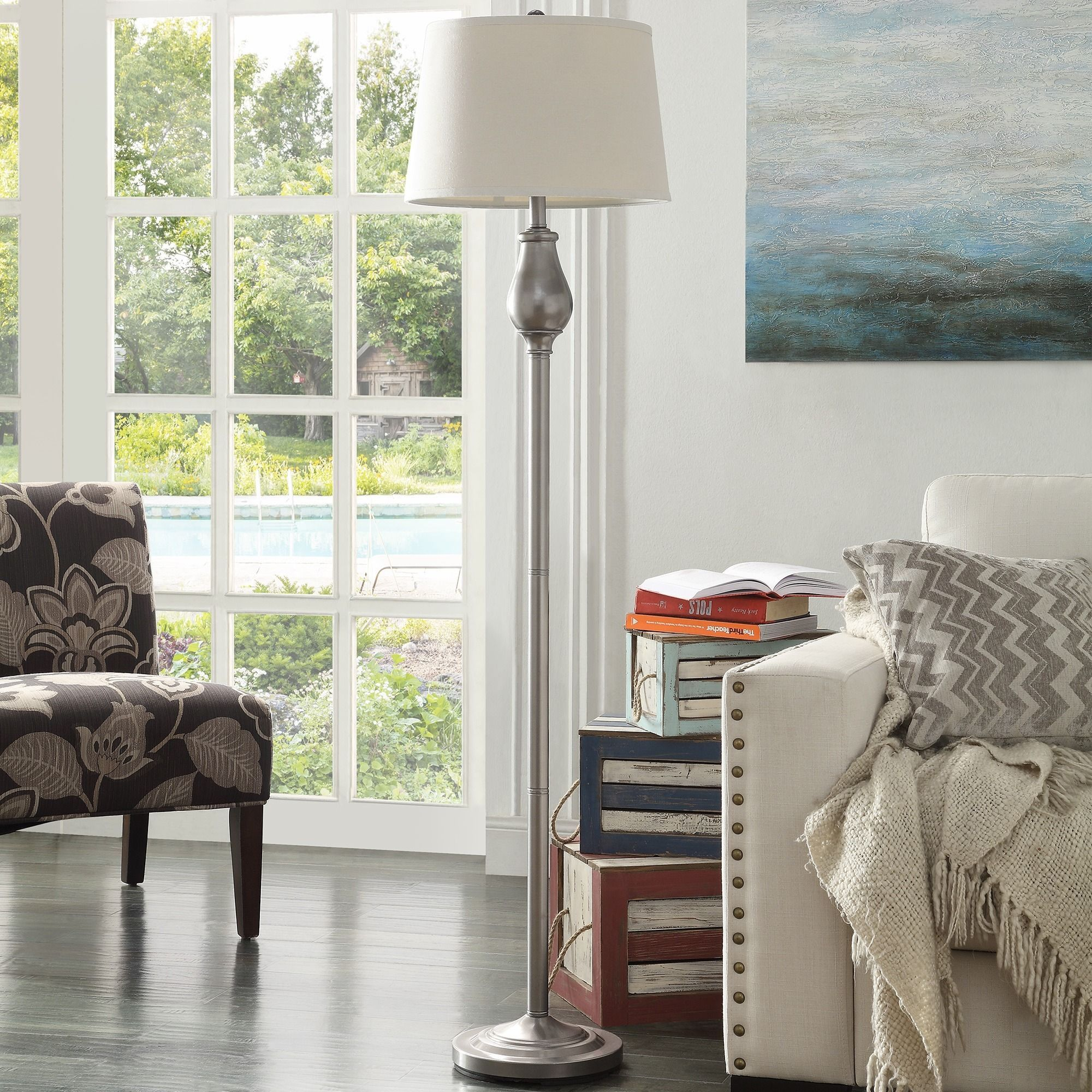 Schubert 3-way Bronze Contoured Base 1-light Accent Floor Lamp by iNSPIRE Q  Bold by iNSPIRE Q