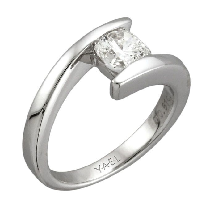Lovely Brides.com: Unique Engagement Ring Settings. 14k White Gold Ring With  Cushion