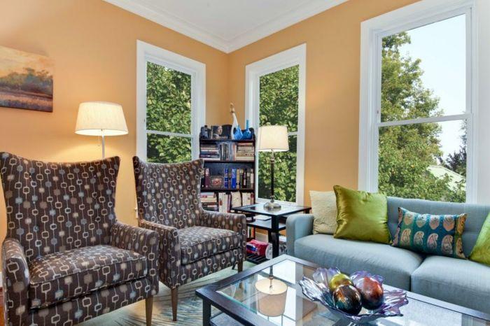 ▷ 1001 + Einrichtungs- und Modeideen in Apricot Farbe Pinterest - farbideen wohnzimmer braun
