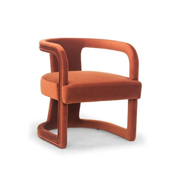 Rory Accent Chair In Rust is part of Accent chairs -