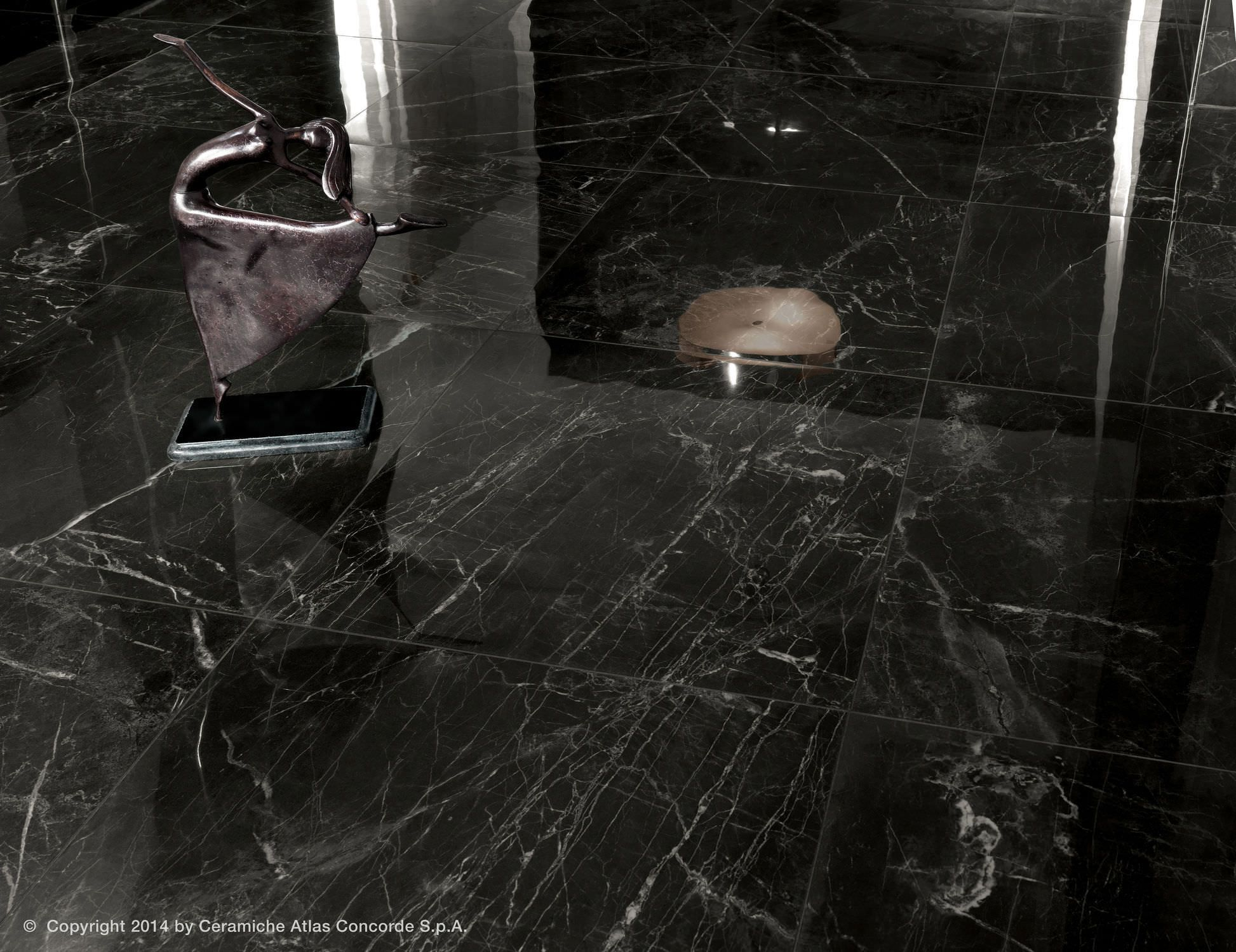 Floor Tile Porcelain Stoneware Polished Marble Look