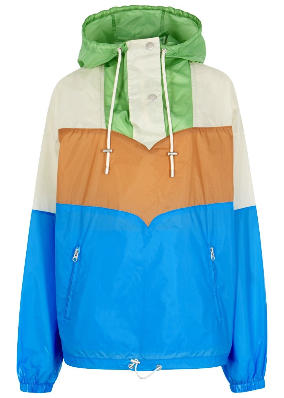 Discount 2018 Newest 2018 New Online colourblock windbreaker - Blue Isabel Marant Popular And Cheap V44zI8p