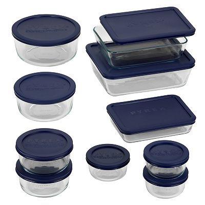 Pyrex 20 Pc Storage Set Kohls Pyrex Storage Glass Food Storage Containers Food Storage Set