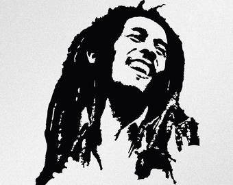 Jimi Hendrix Portrait Svg Dxf Eps Ai Cdr Vector Files For Etsy Bob Marley Painting Bob Marley Art Bob Marley Art Painting