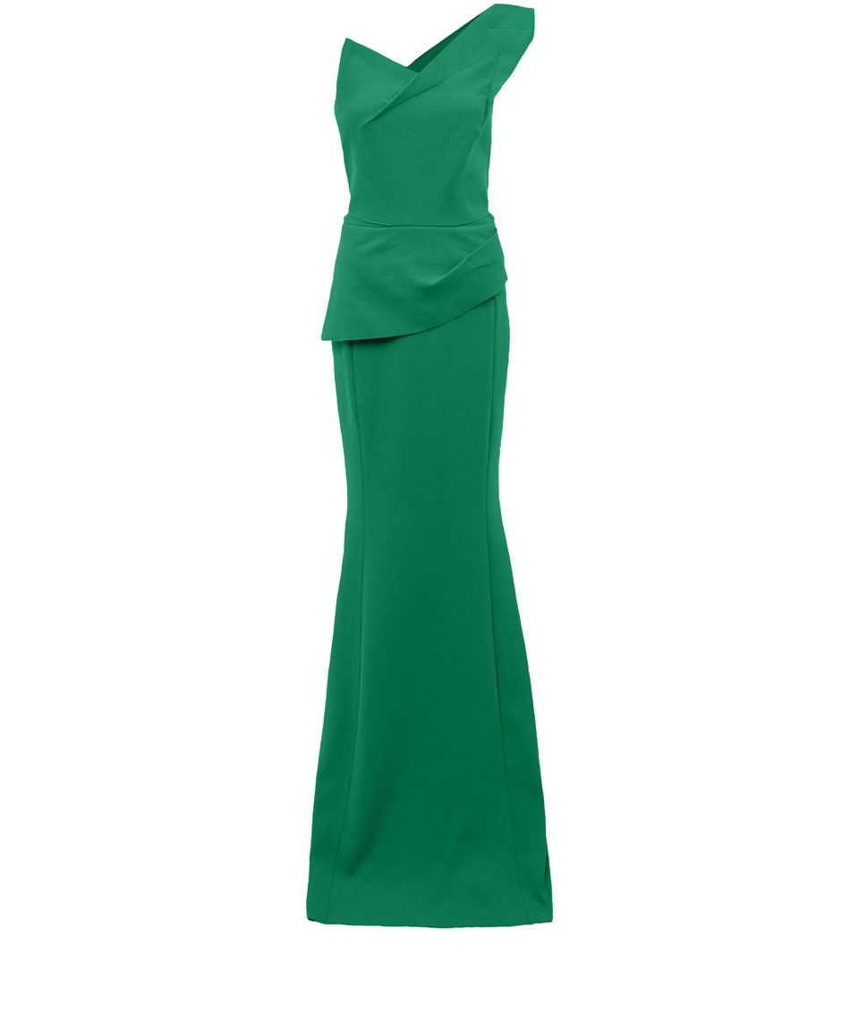 Roland Mouret Green Azul Stretch Crepe One Shoulder Dress Dresses By Liberty Co Uk