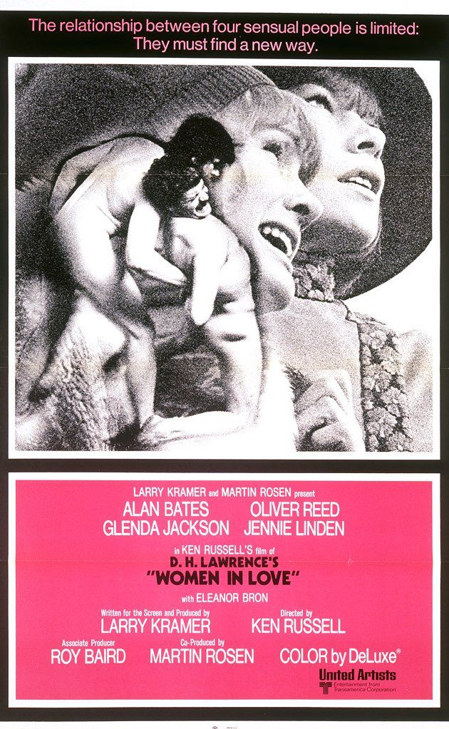 Saw this probly 39 years ago-- maybe it's time to see it again. Directed by Ken Russell.  With Alan Bates, Oliver Reed, Glenda Jackson, Jennie Linden.  Britian's industrial Midlands in the 1920s. Gerald Crich and Rupert Berkin are best friends who fall in love with a pair of sisters Gudrun, a sculptress and Ursula Brangwen, a schoolteacher. Rupert marries Ursula, Gerald begins a love affair with Gudrun, and the foursome embarks upon a Swiss honeymoon. But the relationships take ...