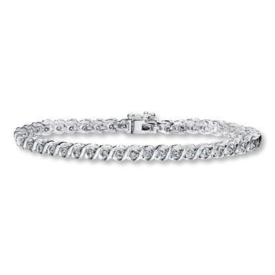 Jared Diamond Bracelet 2 ct tw Roundcut 10K White Gold