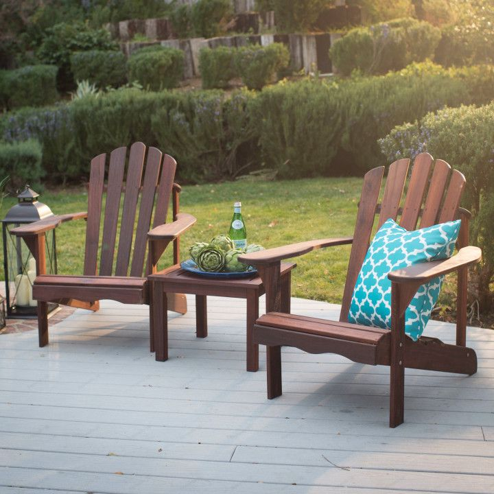 Adirondack Table and Chair Set - Best Paint for Wood Furniture Check more at  & Adirondack Table and Chair Set - Best Paint for Wood Furniture Check ...