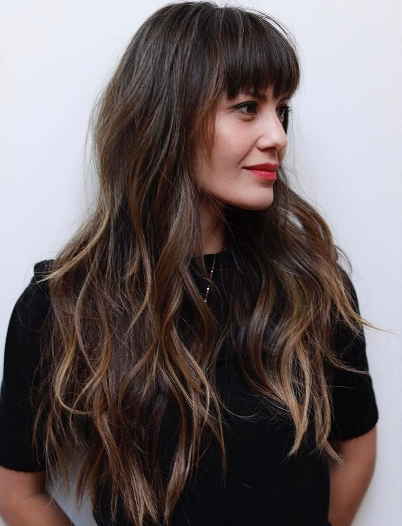 50 cute and effortless long layered haircuts with bangs in 2019