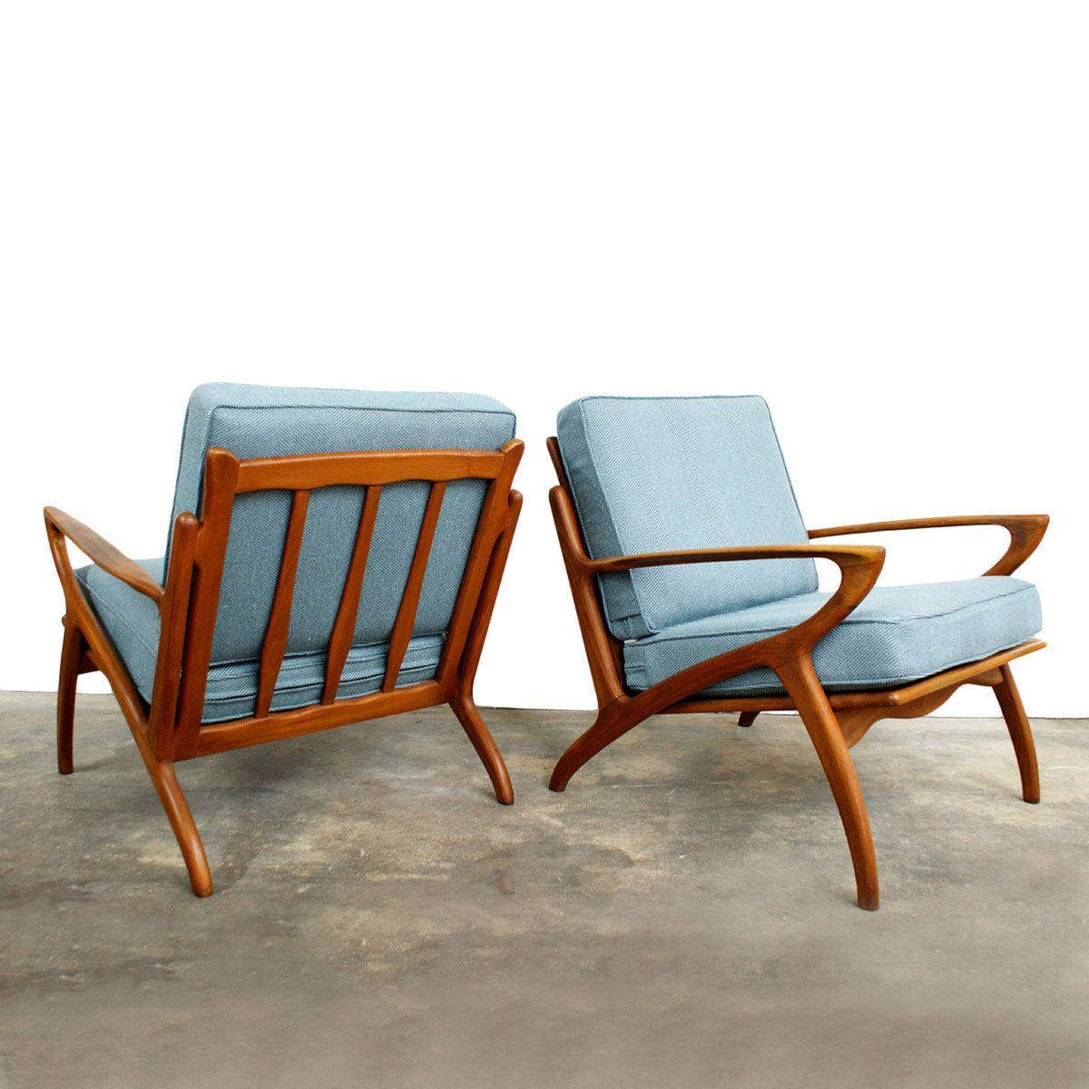 Danish Modern Lounge Chairs  Puisia tuoleja ja jakkaroita