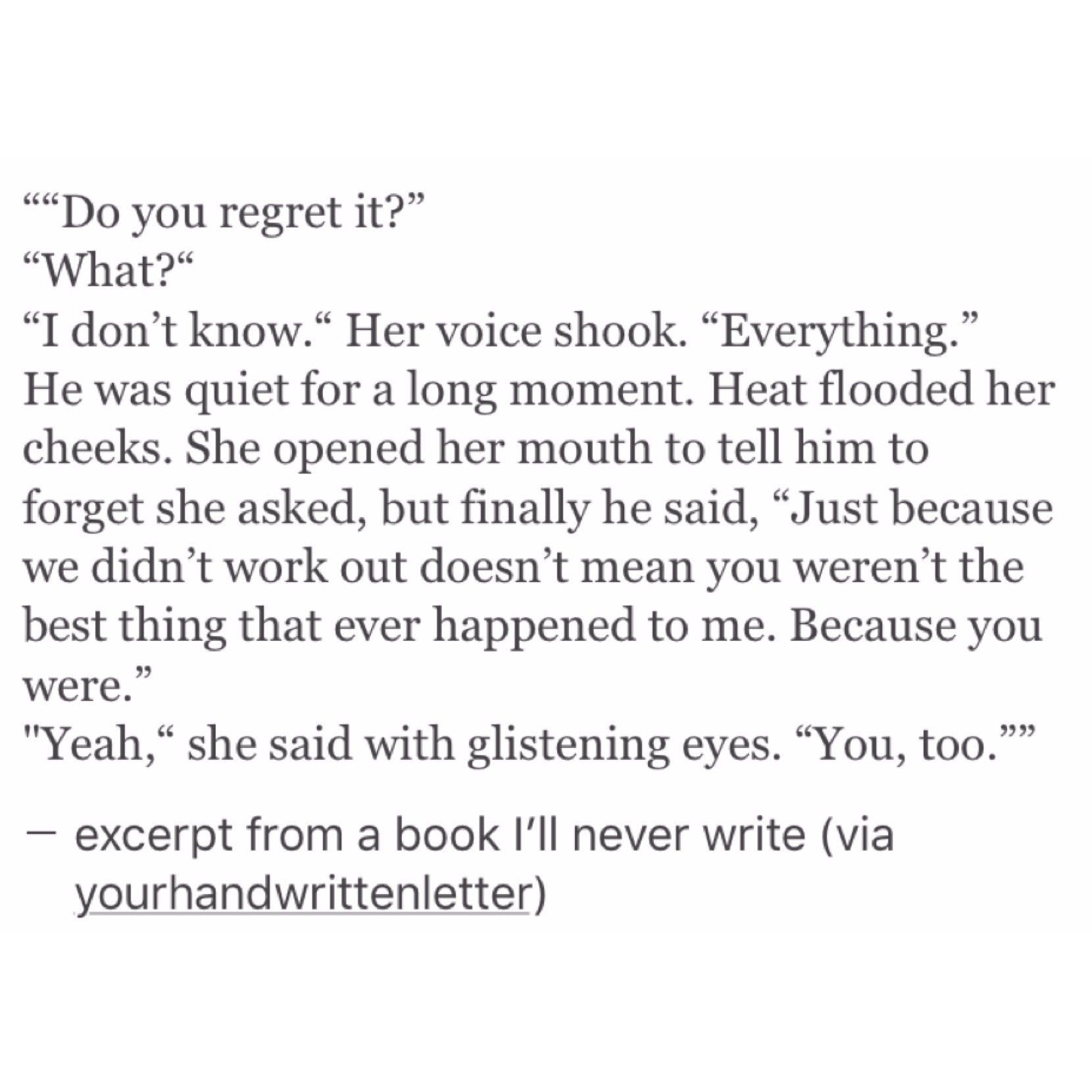 Ill Never Regret That Poetry Pinterest Quotes Love Quotes