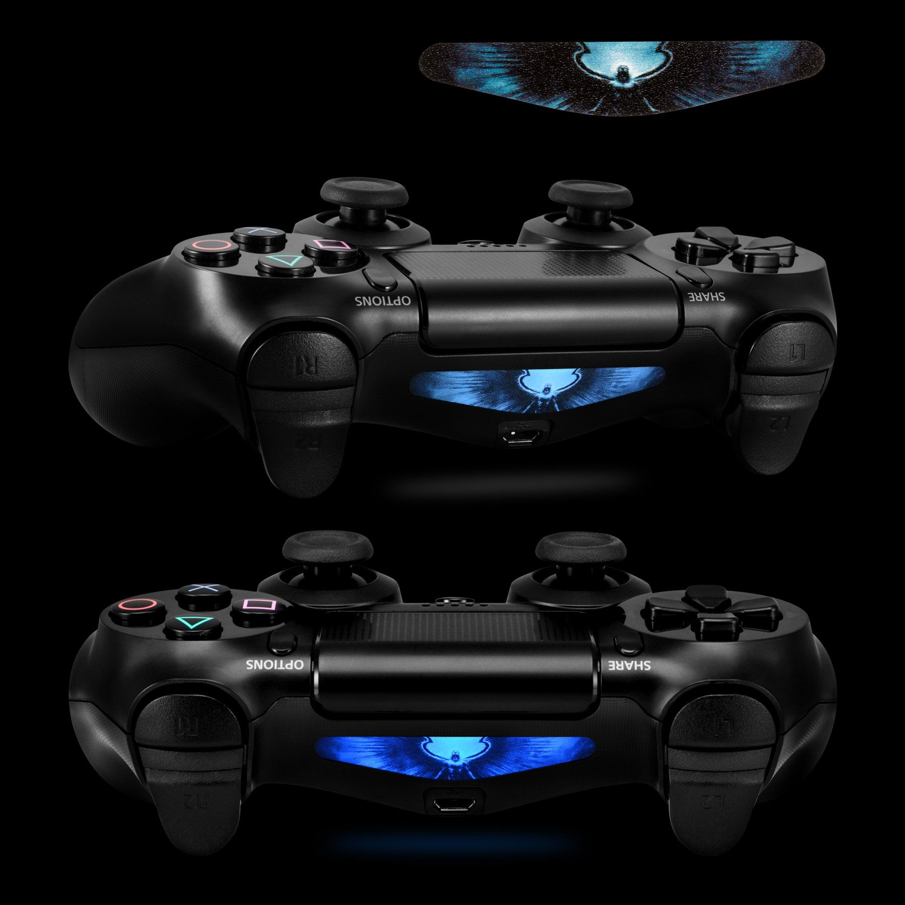 Extremerate 60 Pcs Set Custom Game Light Bar Vinyl Stickers Decal Led Lightbar Cover For Playstation 4 Dualshock 4 P Playstation Ps4 Pro Controller Ghost Light