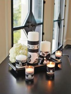 Decorate Candles With Ribbon Candle Decor White Candles White