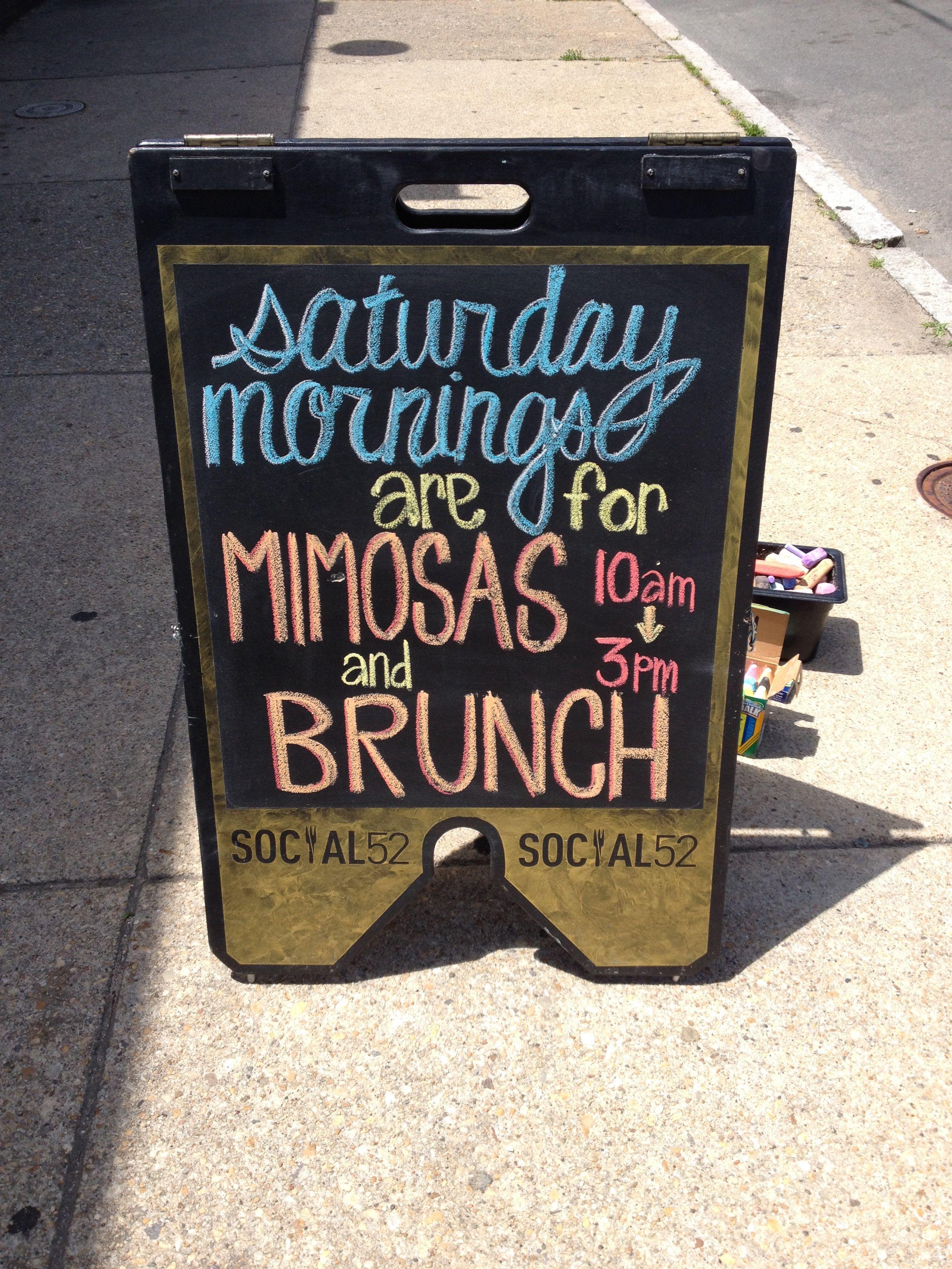 Social52 Kitchen & Craft Bar - Our A-frame chalkboard outside ...