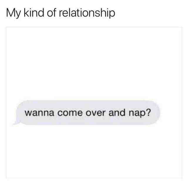 My Kind Of Relationship Wanna Come Over And Nap Daily Lol Pics Nap Meme Funny Nap Quotes Naps Funny