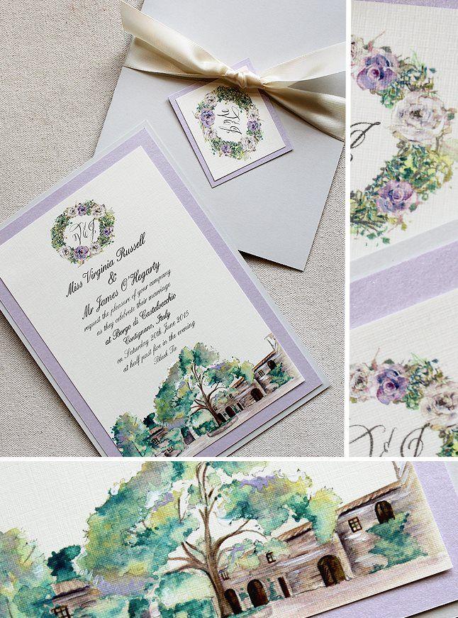 Virginia R Watercolor Italy Wedding Day Accessories Italian