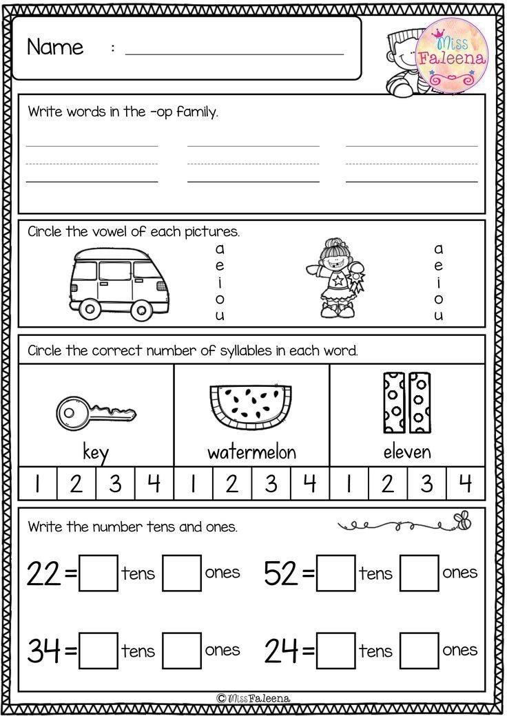 Free First Grade Morning Work Includes 20 Pages Of Morning Work Activities  For Literacy And Math. These … First Grade, First Grade Freebies,  Kindergarten Freebies