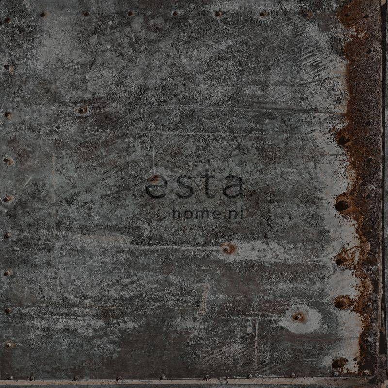 Tapetti Rusty Metal 138222 0,53x10,05 m musta