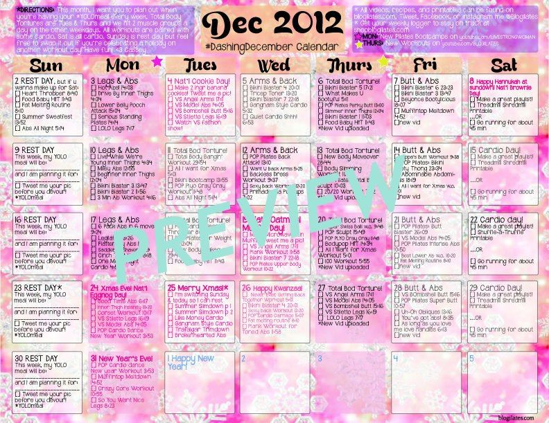 Get your December Workout Calendar HERE!! Let\u0027s Keep Fit