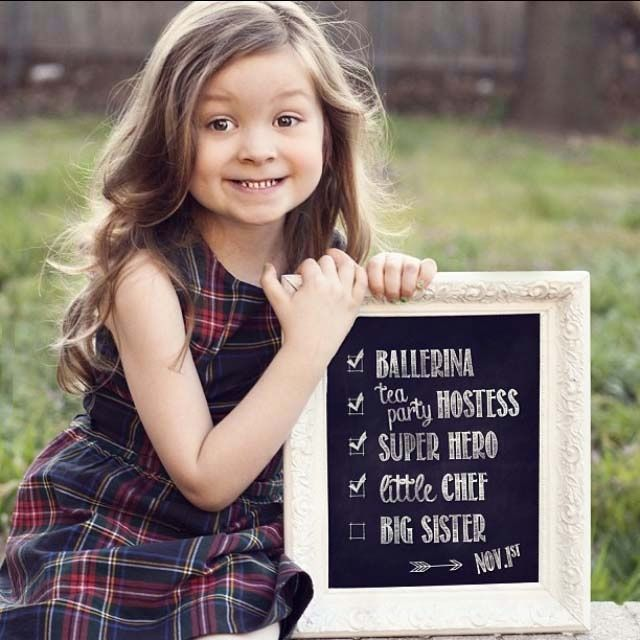 This is cute Ill have to consider for the next kid Big Sister – Big Sister Birth Announcement