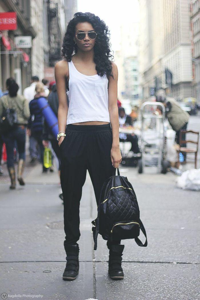 Maquillage swag tenue simple et chic fille bien habillée etre swag new york  style de rue