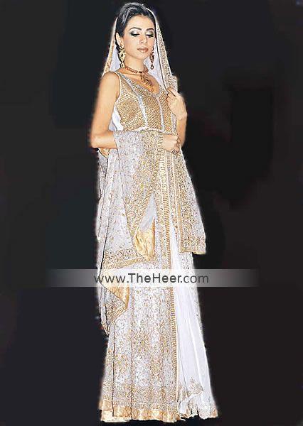 BW6387 Timberwolf Crinkle Chiffon Sharara Pakistani Wedding Styles Indian Bridal Dresses Latest