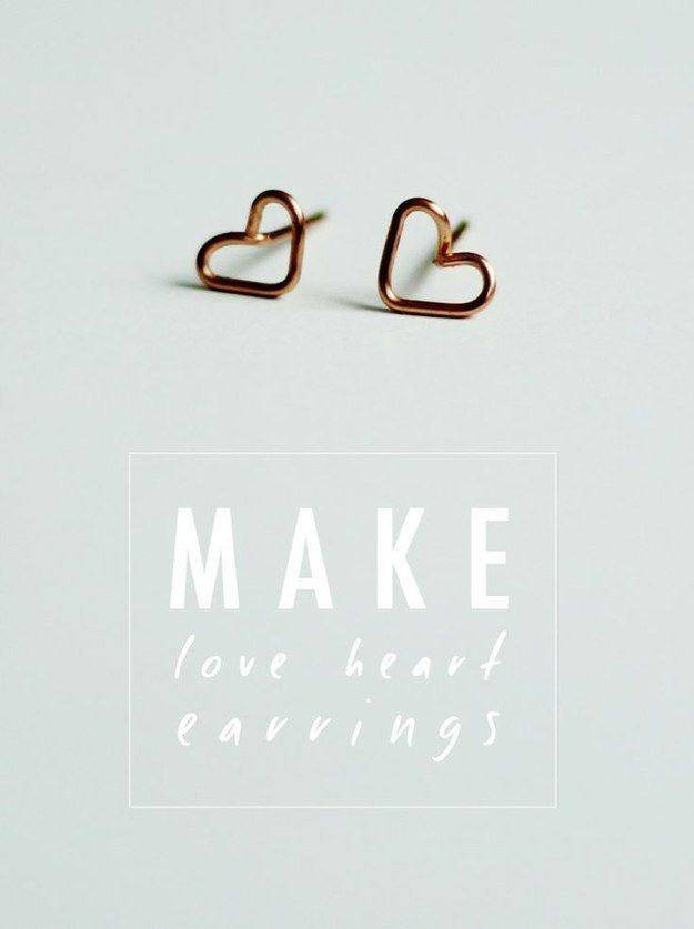 Tiny Wire Heart Earrings | Easy, Gift and Craft
