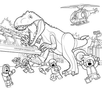Printable LEGO Jurassic World Coloring Sheets LEGO