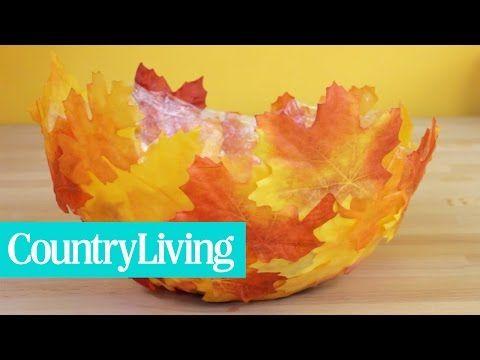 Die Blätter fallen wieder von den Bäumen! Stelle von diesen Blättern eine prachtvolle Schale her. Sieht hübsch auf dem Tisch oder der Anrichte aus! - DIY Bastelideen