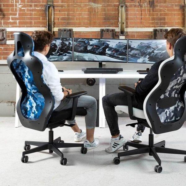 Chaise Gamer Design Dossier Avec Filet Sitness Rs Sport En 2020 Chaise Bureau Bureau Gaming Coussin Lombaire