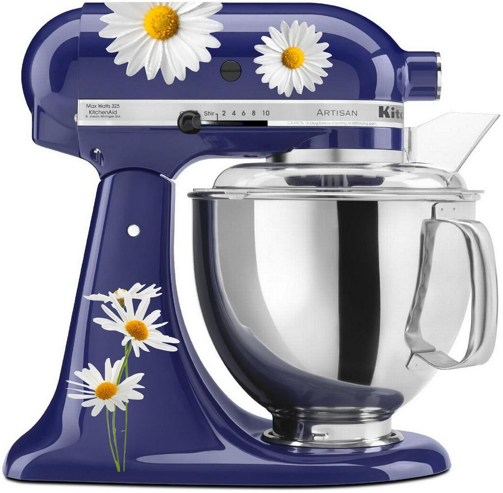 Watercolor Daisy Set In 2019 Mixer Kitchen Kitchen Aid Mixer