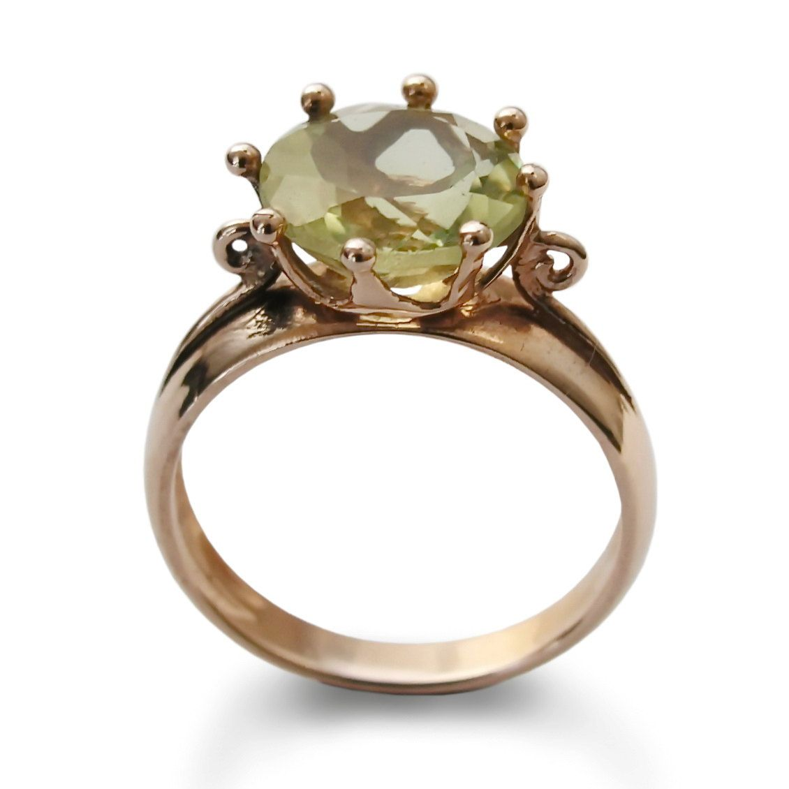 crystal ring product and engagement raw diamond gold rings quartz green herkimer