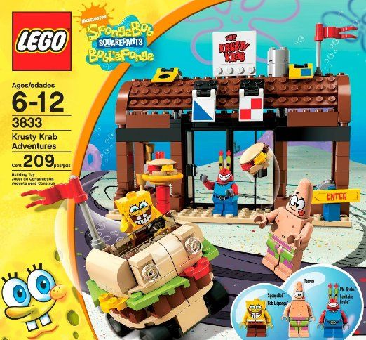 Amazoncom Lego Spongebob Squarepants Krusty Krab Adventures Toys