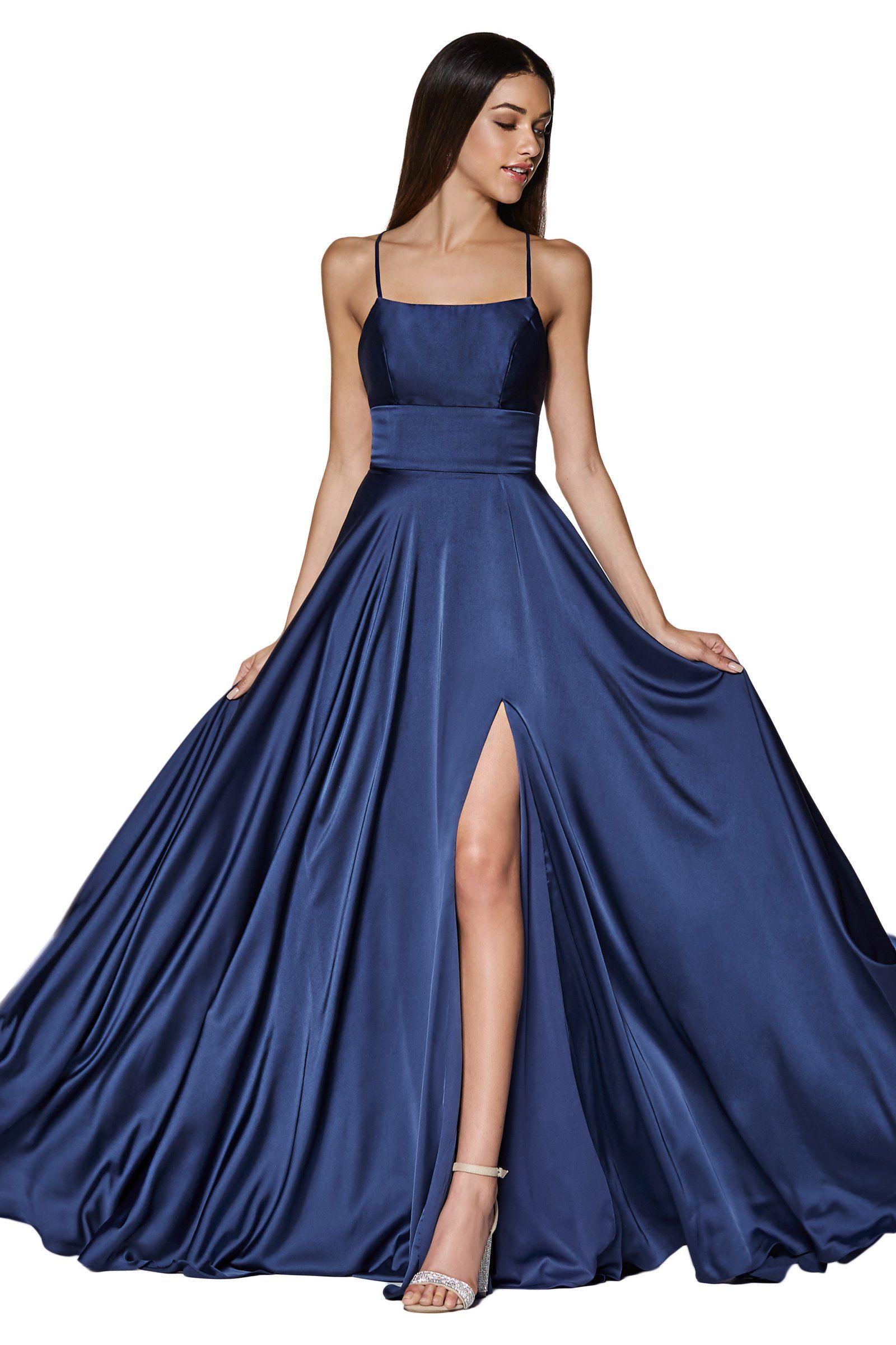 Cinderella Divine Cj527 Long Crisscross Back Satin A Line Dress Stunning Prom Dresses Satin Dress Long Trendy Prom Dresses [ 2400 x 1600 Pixel ]