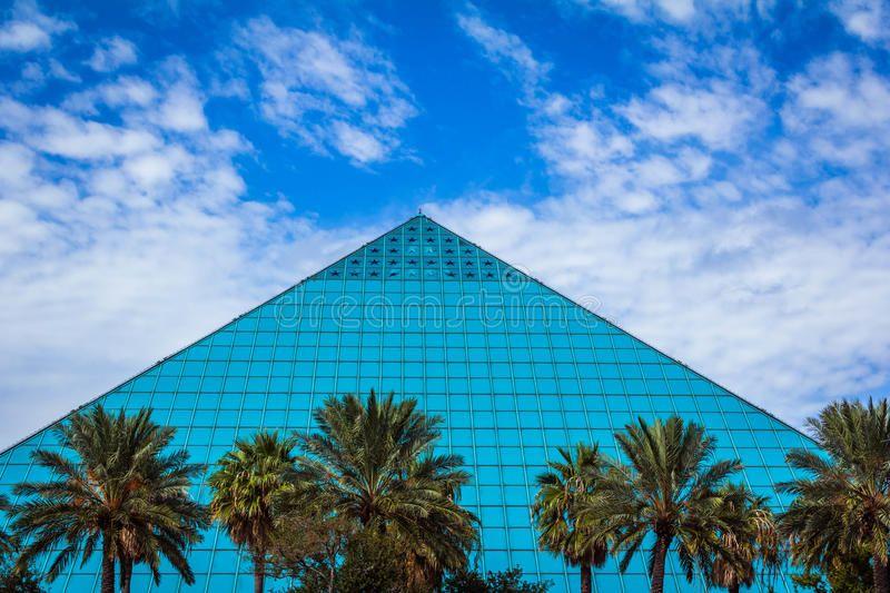 Blue Pyramid. The Aquarium Pyramid at Moody Gardens on
