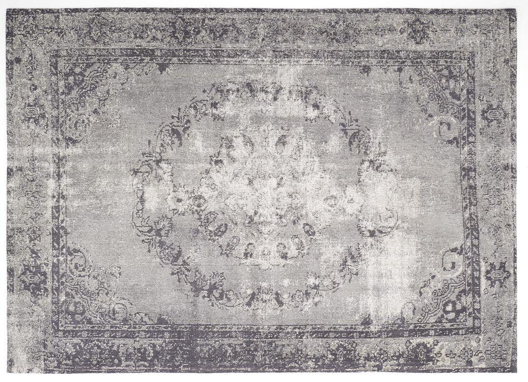 Vintage-Orient-Teppich grau MEDAILLON Condos and Interiors - Teppich Wohnzimmer Braun