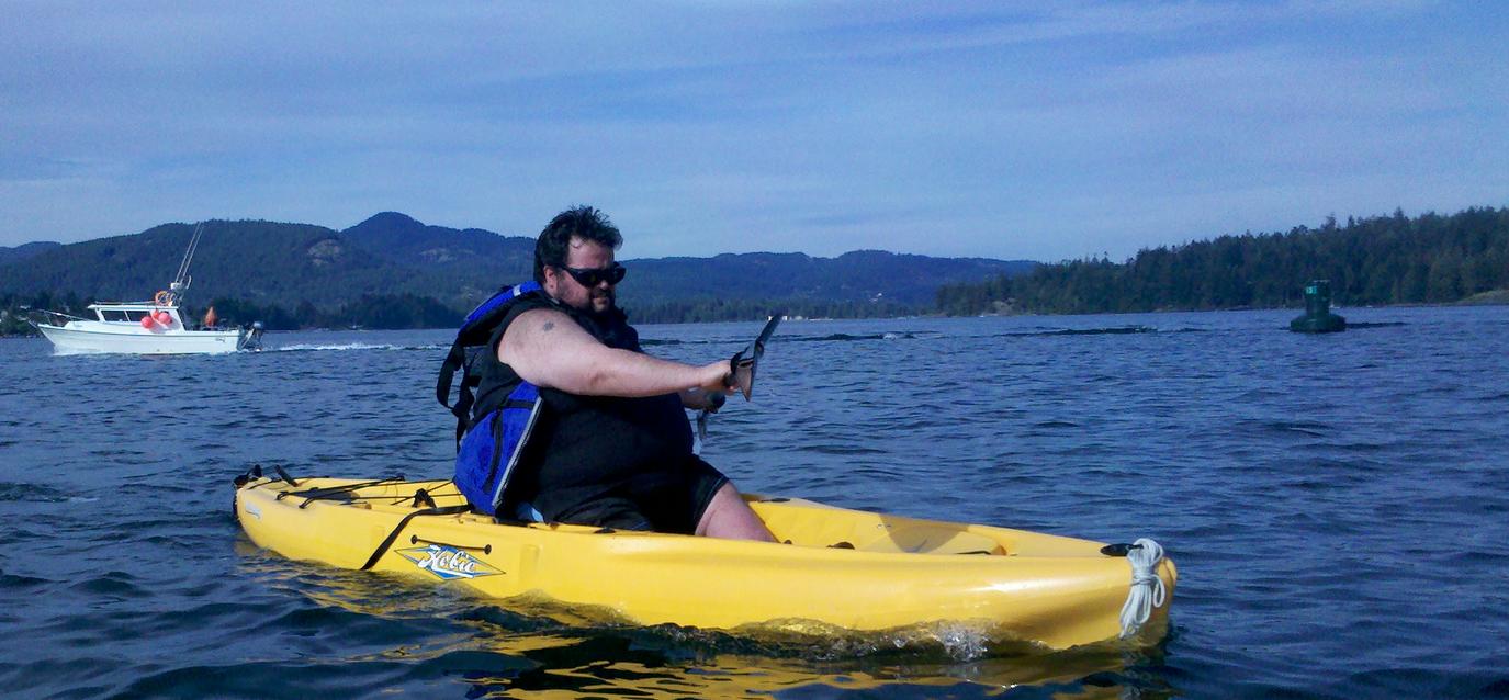 Big guy in a hobie kayak big guy in a kayak pinterest for Fishing kayak for big guys